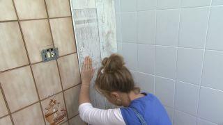 Decorar baño sin obra en blanco y madera - paso 4