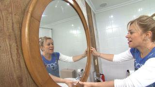 Decorar baño sin obra en blanco y madera - paso 6