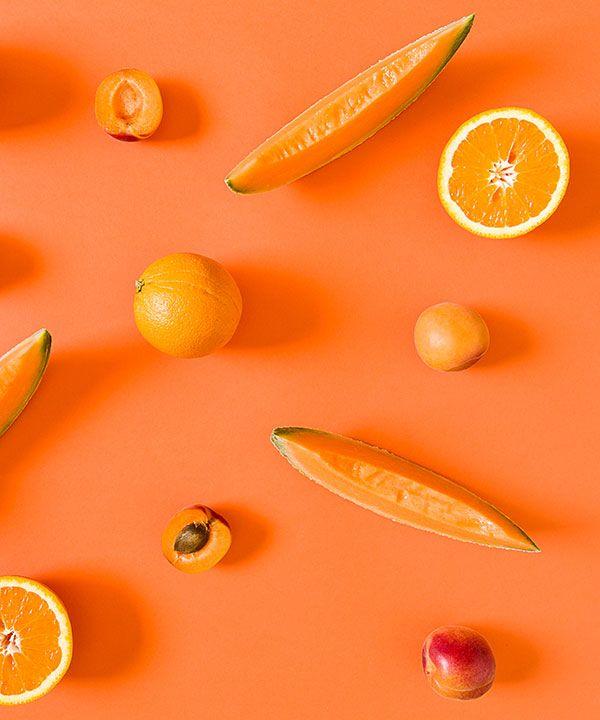 albaricoque, melon naranja