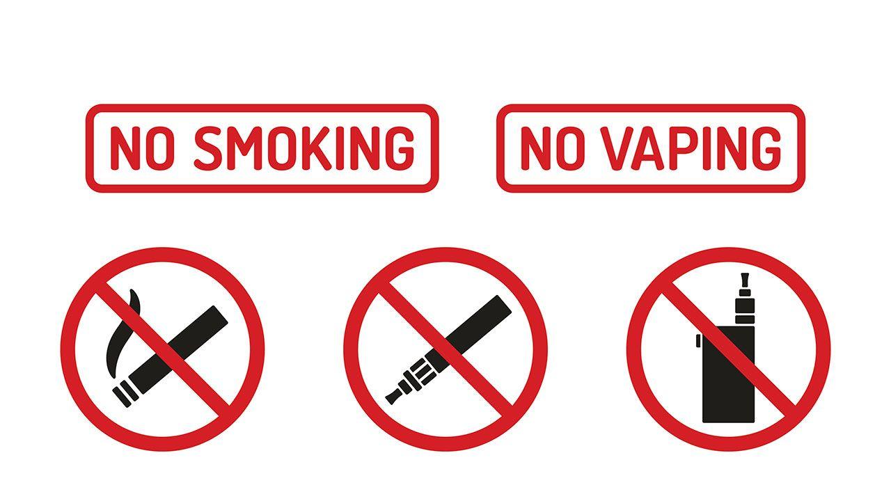 no fumar no vaper