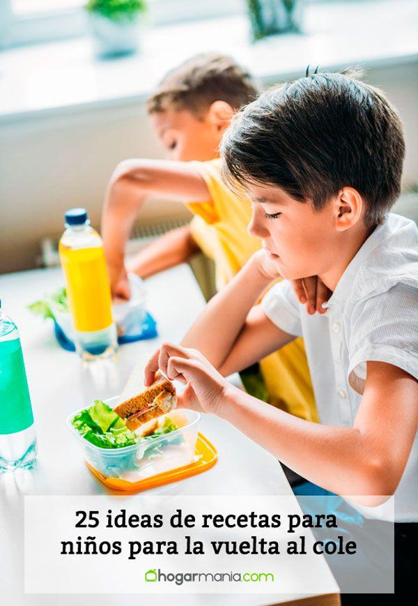 25 ideas de recetas para niños para la vuelta al cole