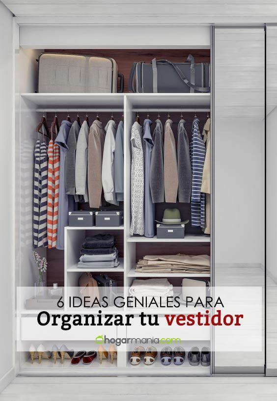 6 ideas geniales para organizar tu vestidor