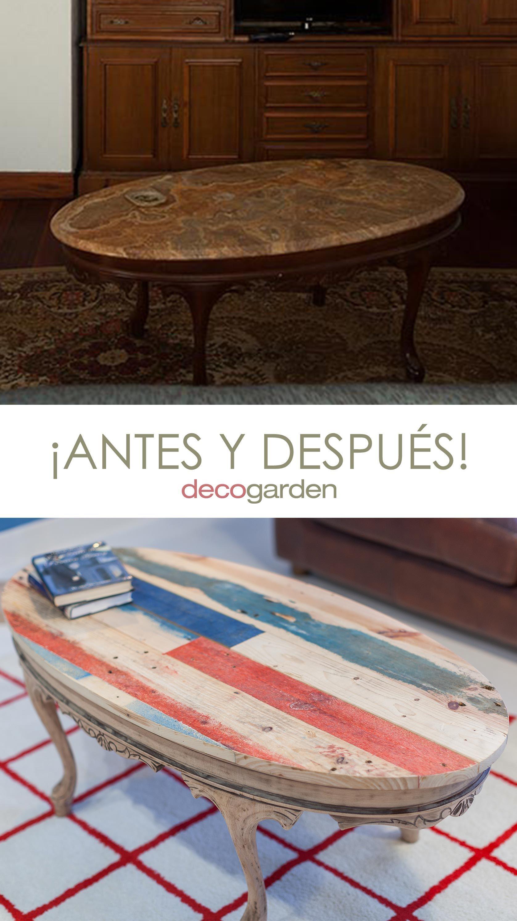 Cómo hacer una encimera de palés pintados para una antigua mesa de salón