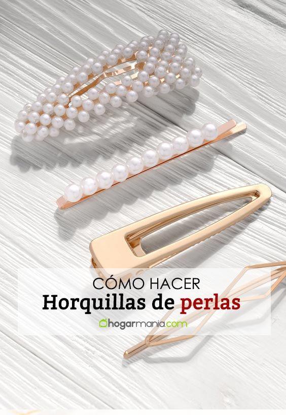 Cómo hacer horquillas de perlas