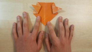 Cómo hacer un perro Shiba Inu de origami paso 4
