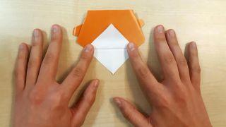 Cómo hacer un perro Shiba Inu de origami paso 6