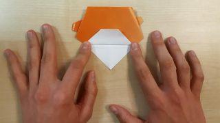 Cómo hacer un perro Shiba Inu de origami paso 7