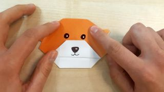 Cómo hacer un perro Shiba Inu de origami paso 8