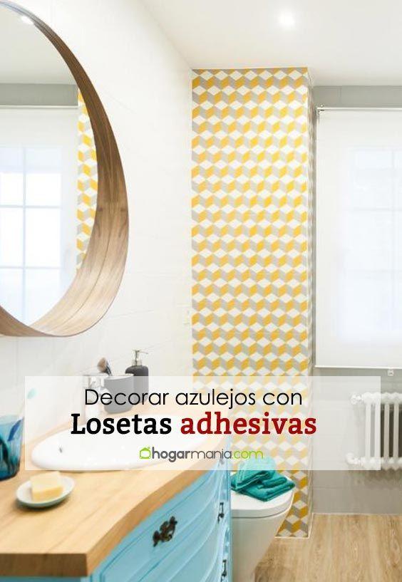 Decorar azulejos con losetas adhesivas