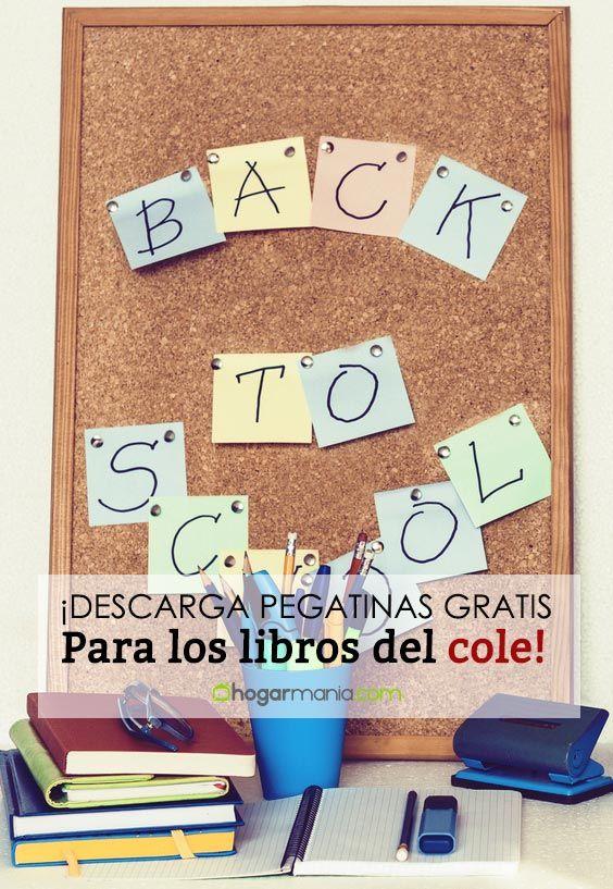 ¡Descarga gratis pegatinas para poner el nombre el los libros del cole!