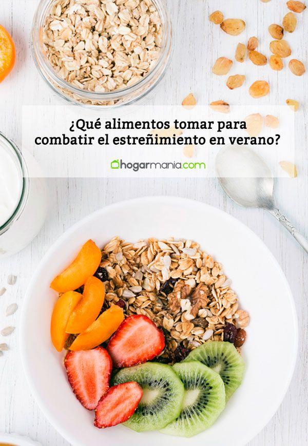 ¿Qué alimentos tomar para combatir el estreñimiento en verano?