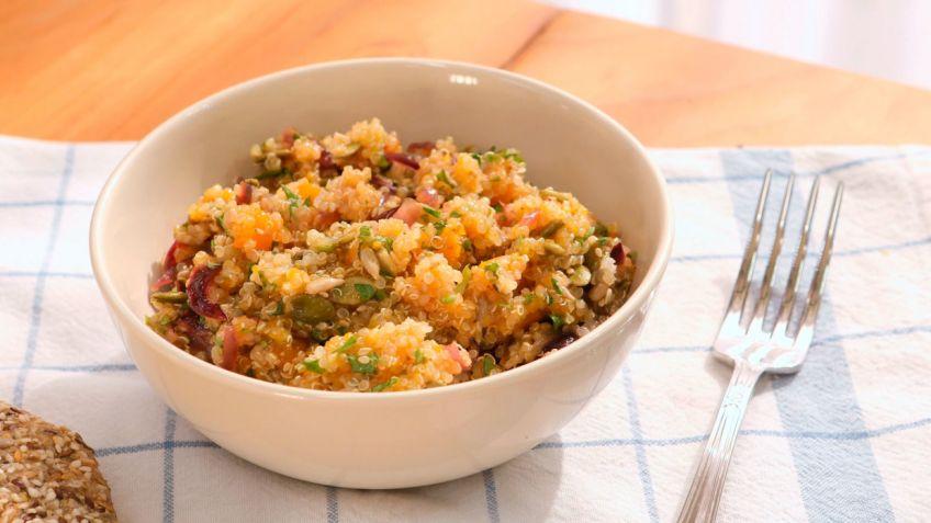 Ensalada de quinoa y calabaza - Cocinatis