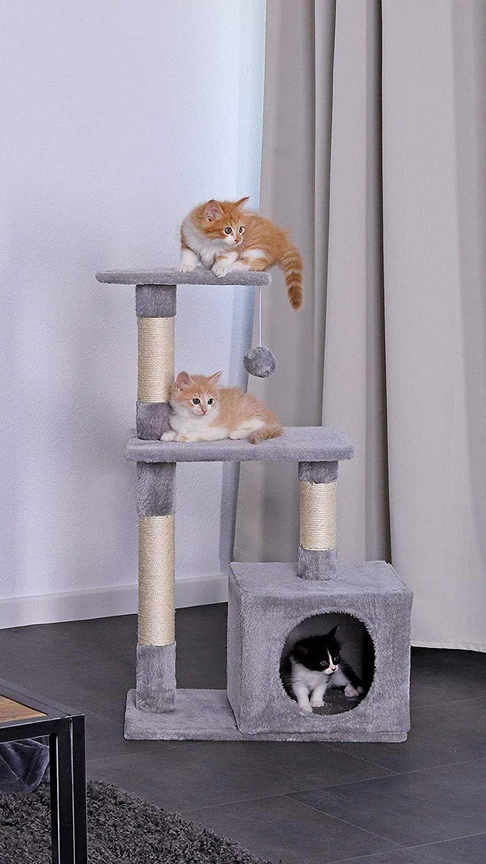 Cama con rascador para gatos