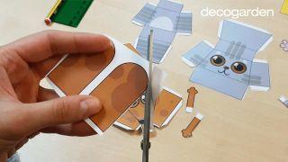 Cómo hacer animales de papel en 3D paso 1