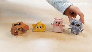 Cómo hacer animales de papel en 3D paso 4