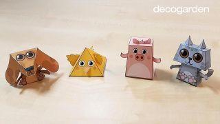 Cómo hacer animales de papel en 3D