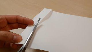 Cómo hacer un muelle de papel paso 1