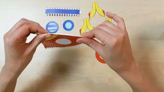 Cómo hacer un cohete de papel paso 2
