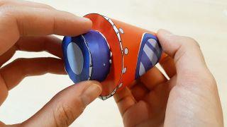 Cómo hacer un cohete de papel paso 6