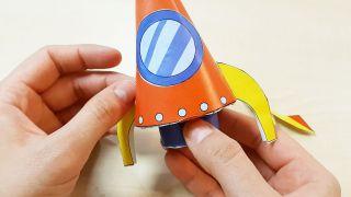Cómo hacer un cohete de papel paso 7