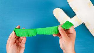 Cactus en 3D para guardar caramelos paso 4