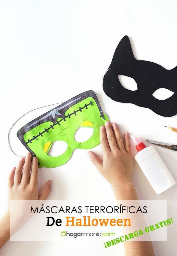 Máscaras terroríficas de Halloween, ¡descárgatelas gratis!