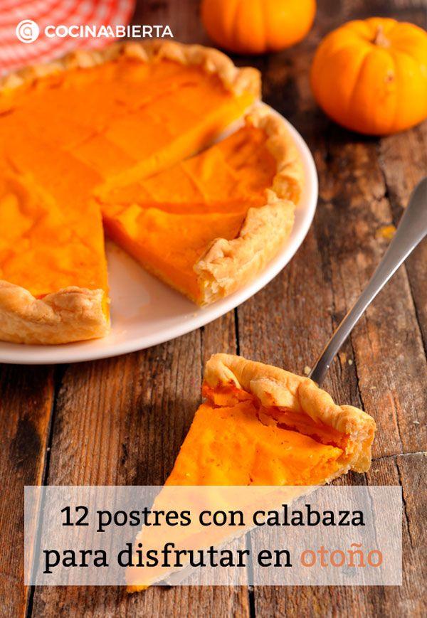 12 postres con calabaza para disfrutar en otoño