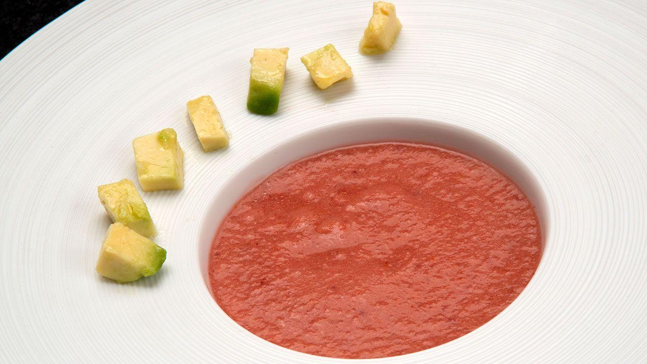 receta de salmorejo de tomate y cerezas