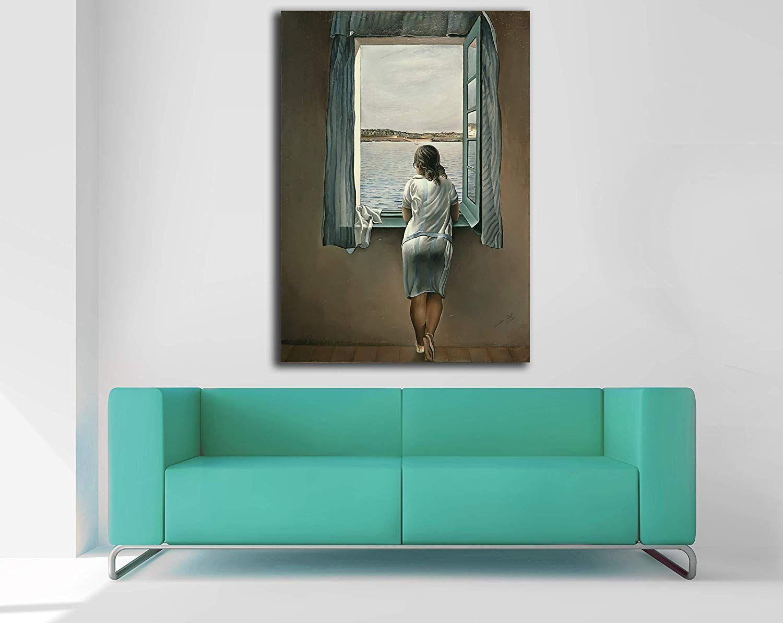Lienzo Figura en una ventana de Salvador Dalí
