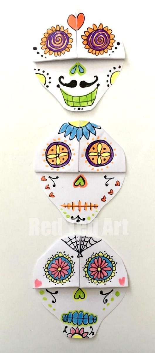 Corner Bookmark calavera mexicana