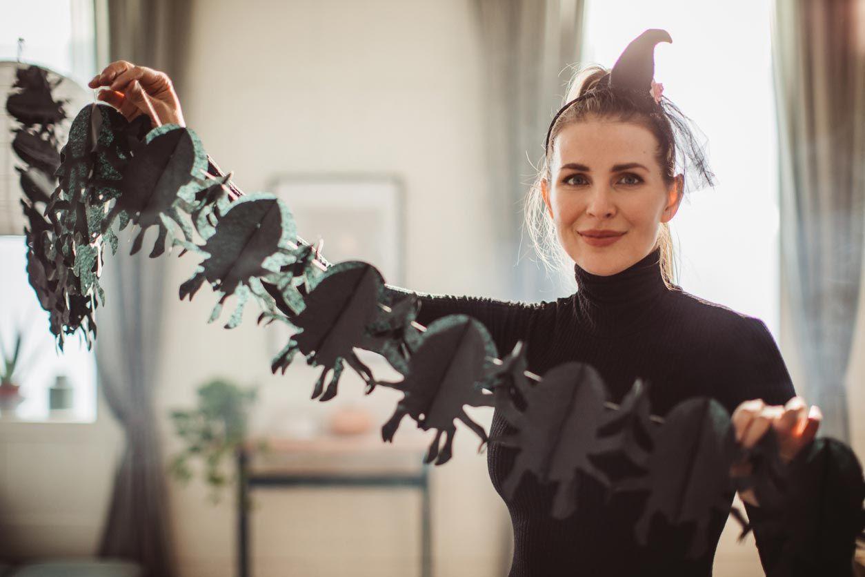 Guirnaldas de escarabajos de Halloween