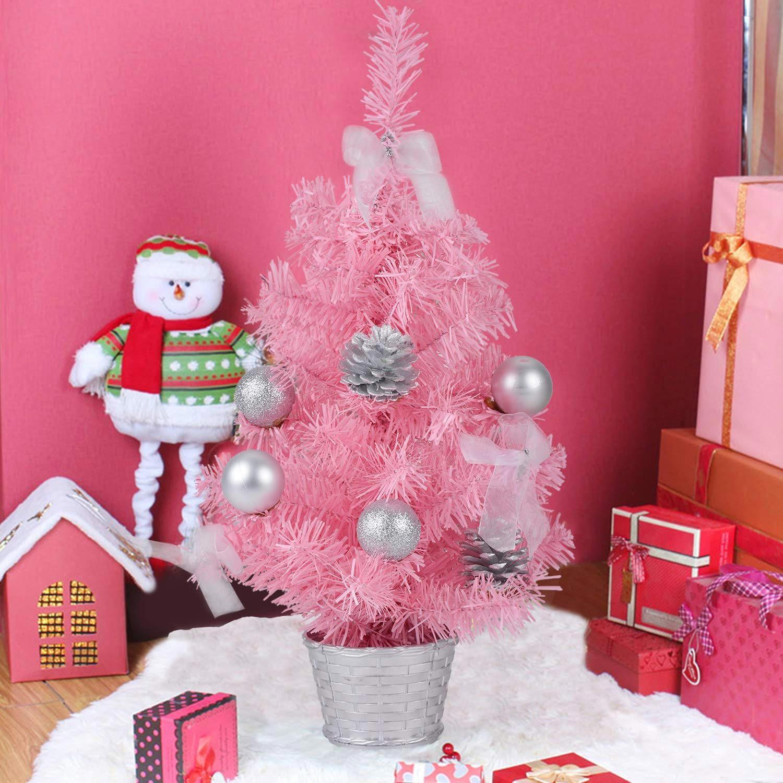 Árbol de Navidad rosa pequeño