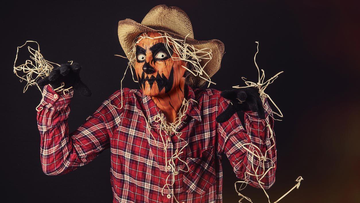 Disfraz de calabaza terrorífica de Halloween