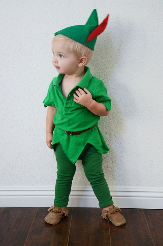 Disfraz Peter Pan para bebés.