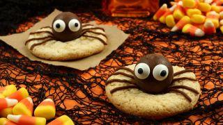 Galletas de araña para Halloween