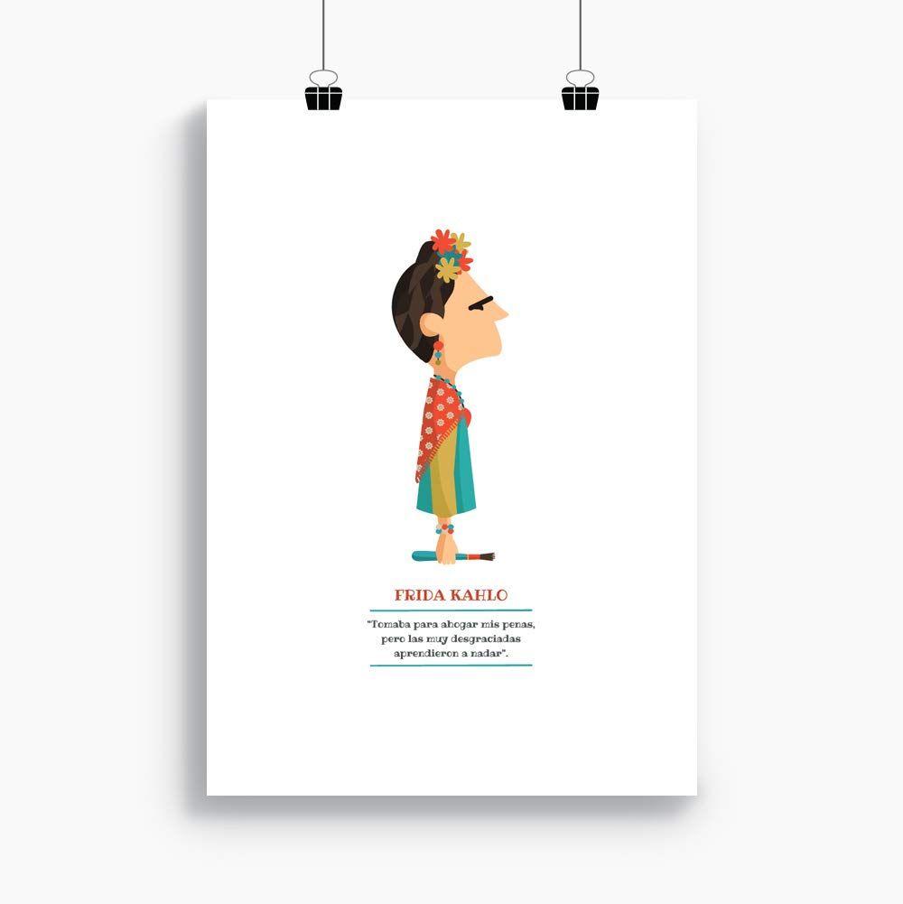 Lámina Frida Kahlo tipo cómic o sketch