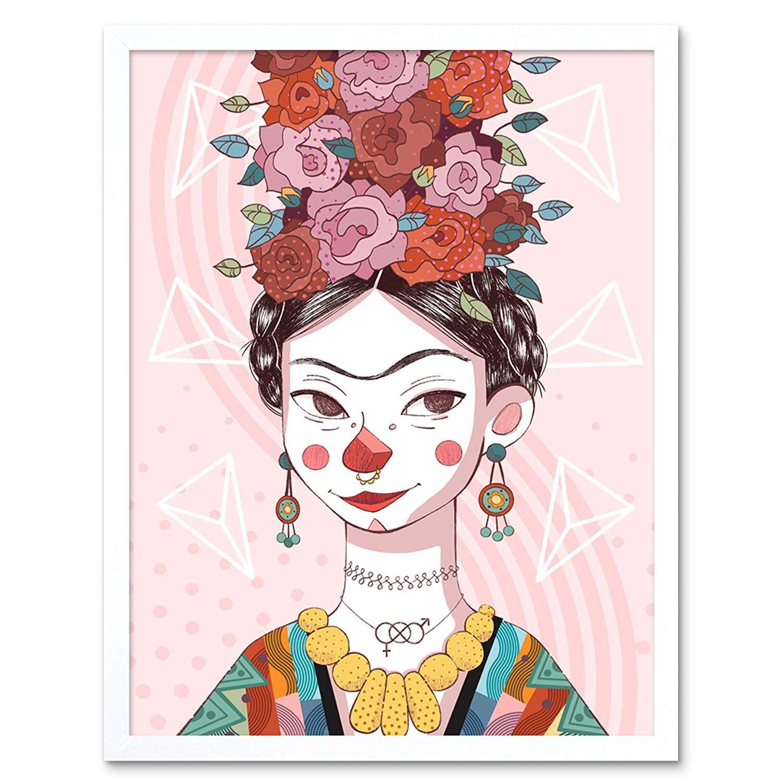 Lámina Frida Kahlo ilustración infantil