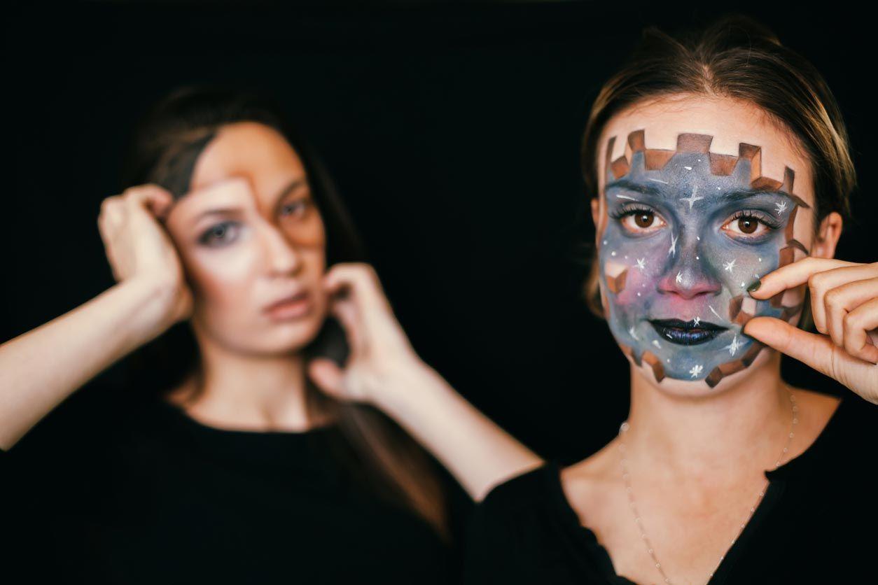 Maquillajes de fantasía en 3D para Halloween y Carnaval