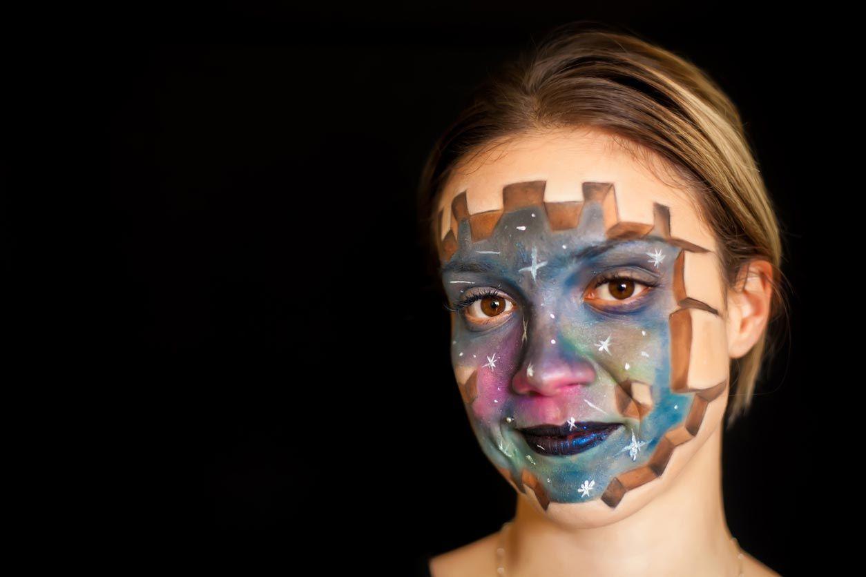 Maquillaje galaxia 3D