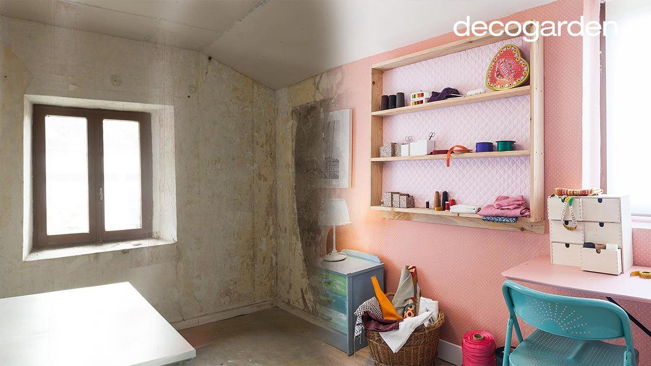 Transformar camarote en dormitorio y estudio de costura - Antes y después