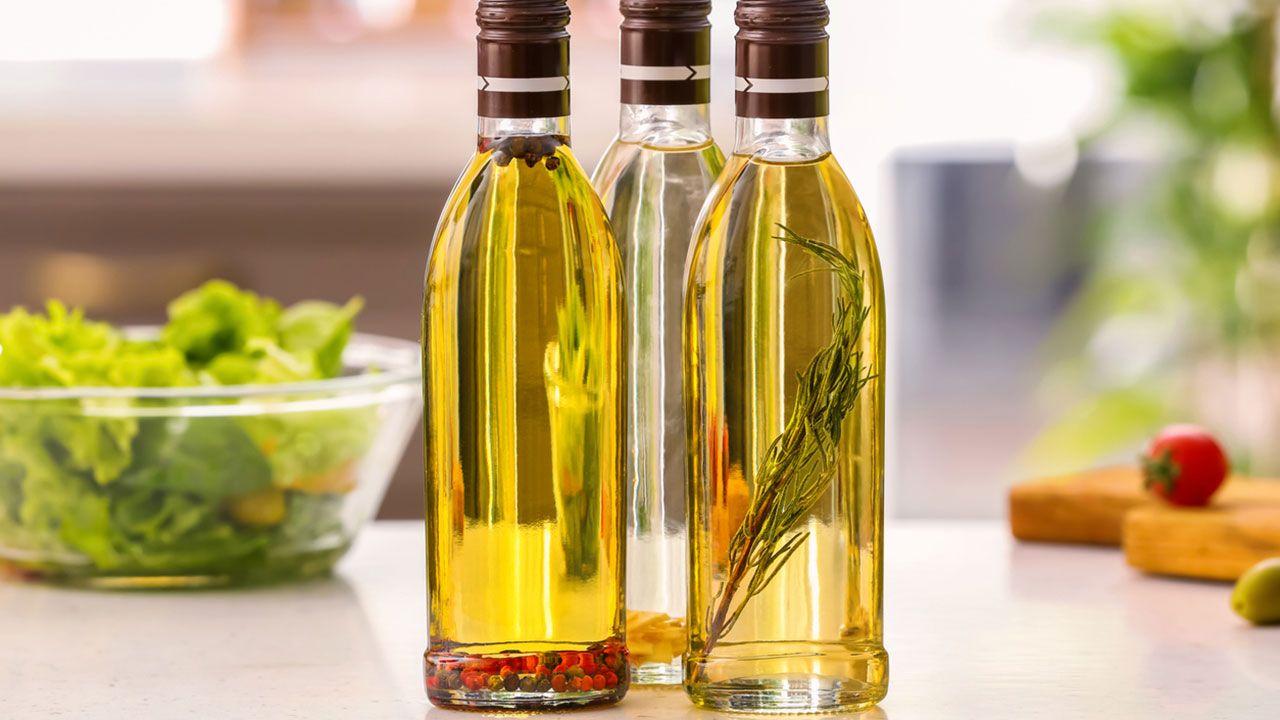 Botellas de aceites aromatizados para regalar