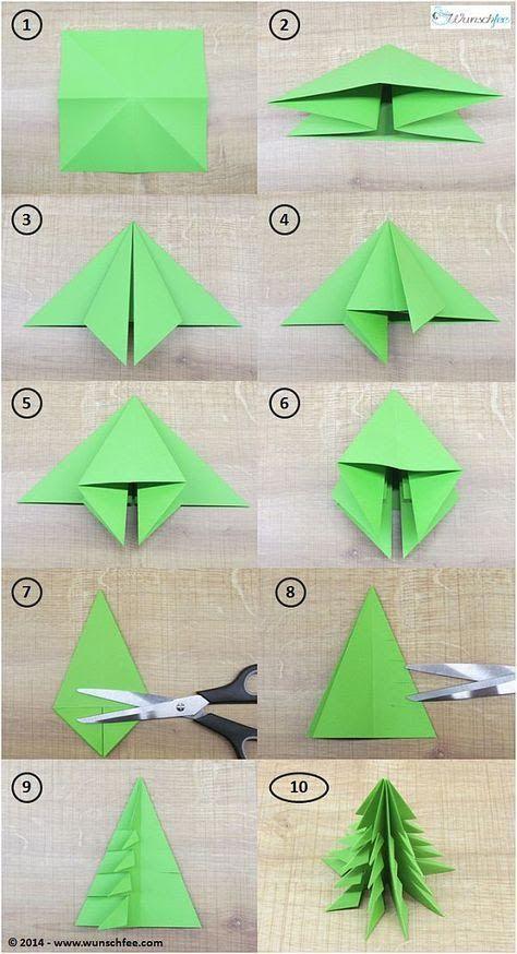 Cómo hacer los abetos de papel