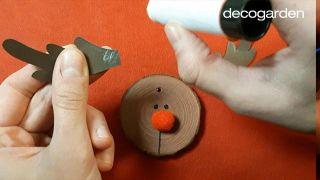 Cómo pintar discos de madera navideños - Paso 5
