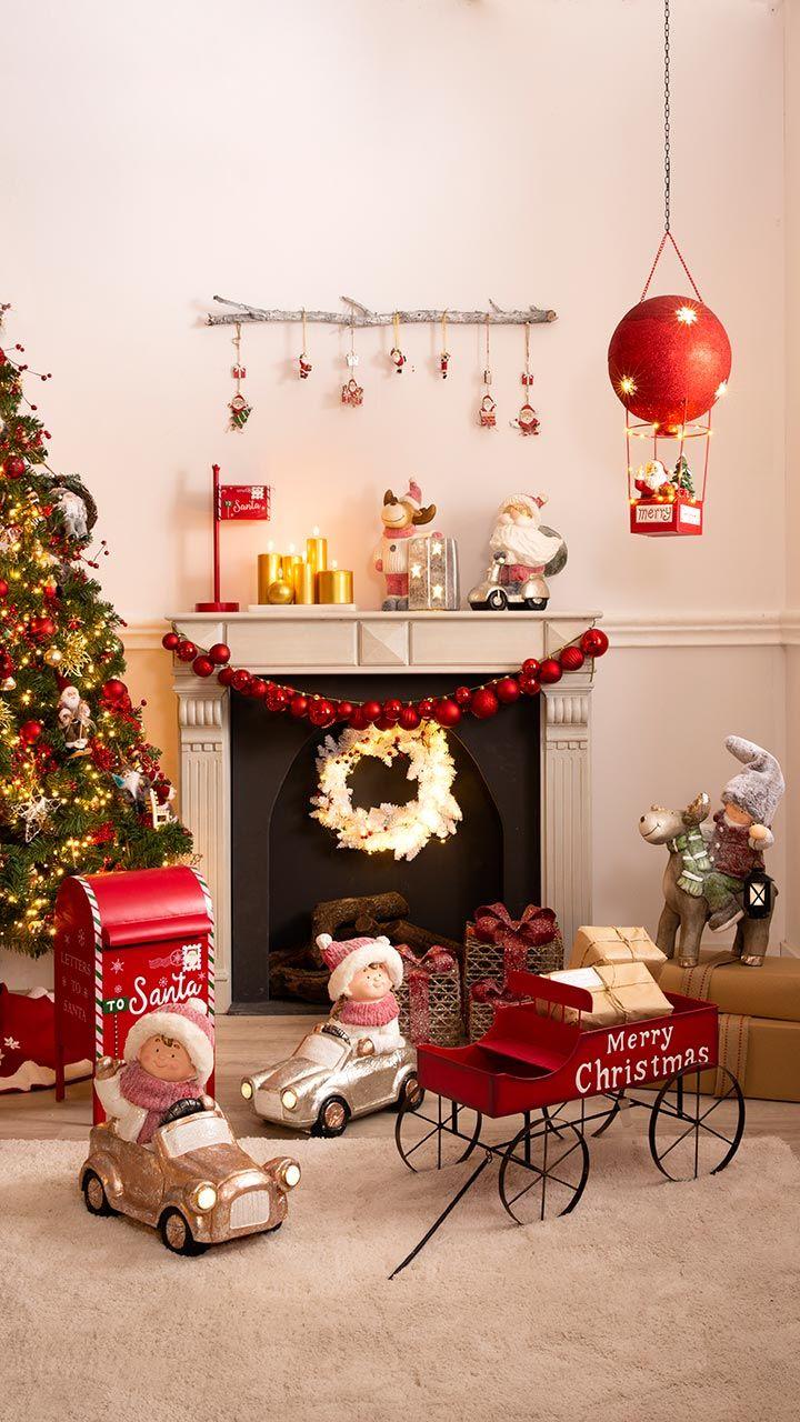 Decoración navideña de estilo estadounidense
