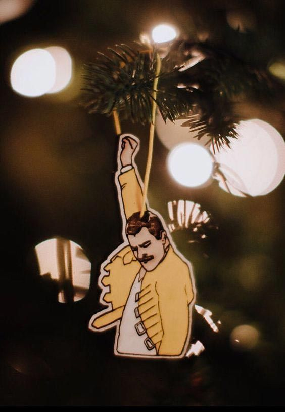 Adorno para el árbol de Navidad de Freddie Mercury