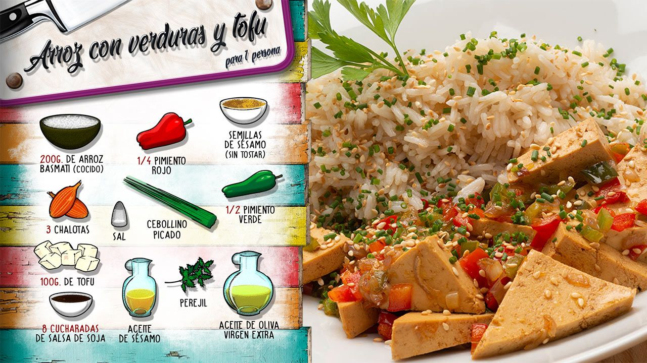 Arroz con verduras y tofu - Ingredientes