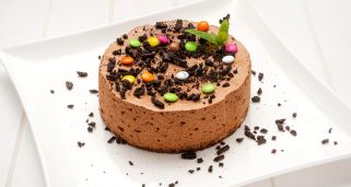 Tarta mousse de chocolate y caf�