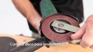 Como se coloca el disco en la amoladora