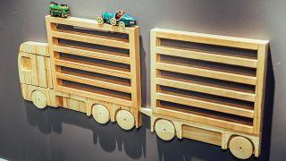 Cómo hacer una estantería con forma de camión