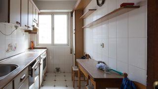 Cocina pequeña en madera y sin obra - Antes